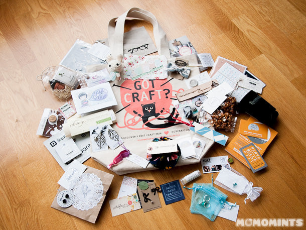 Vancouver Got Craft? Spring Edition 2014 Swag Bag goodies and haul