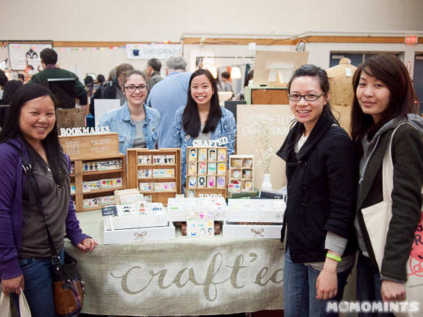 Rachel @onanaknits, with the girls of Craft'ed Van and Momomints at Got Craft?