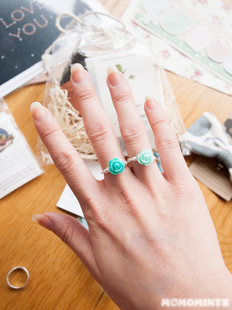 Favourite Got Craft? Goods: Mint coloured rings from Reminded Designs