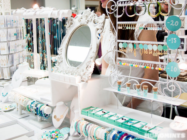 So much mint at Reminded Designs' Got Craft? booth!