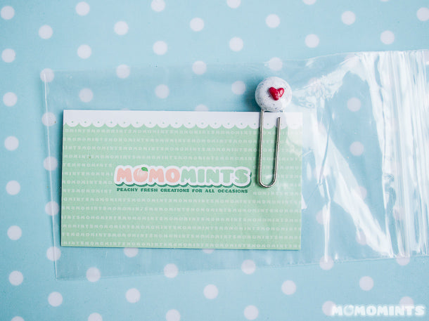 Close-up of the Momomints Paperclip Organizer Charms for JustMoCah
