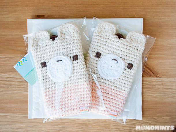 Peach iPhone 6 Amigurumi Bear Cases Ready to Mail Out