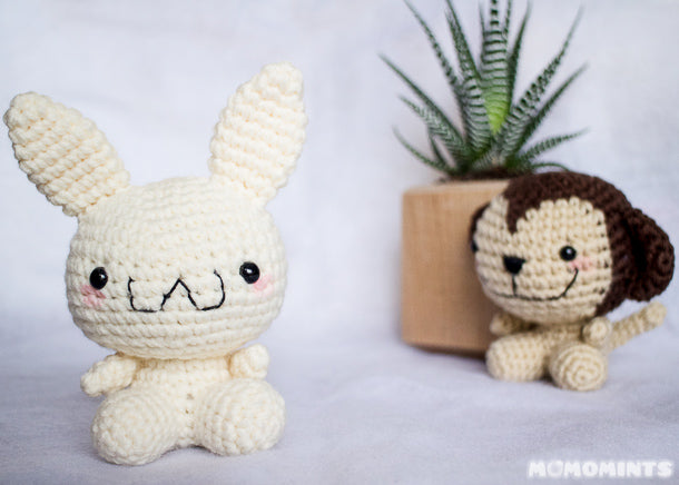 Custom Amigurumi Crochet Ju Bunny Stuffed Toy for Julie of Jubes Comic