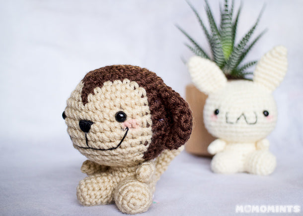 Custom Amigurumi Crochet Ja Monkey Stuffed Toy for Julie of Jubes Comic