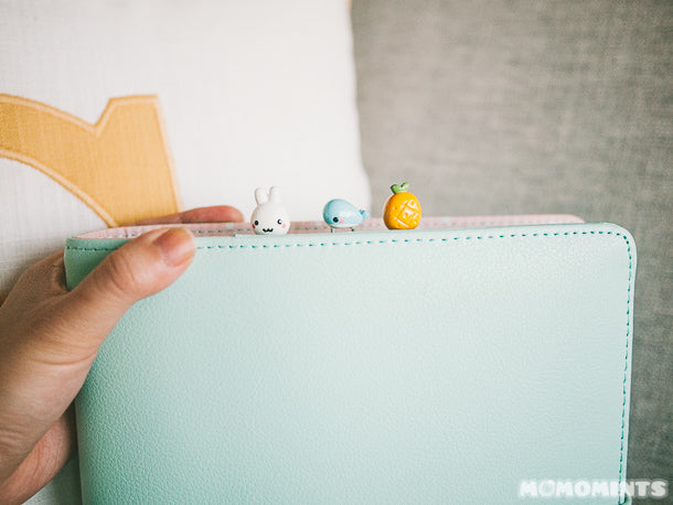 Mint Kikki K Planner with Momomints Paperclip Bookmarks