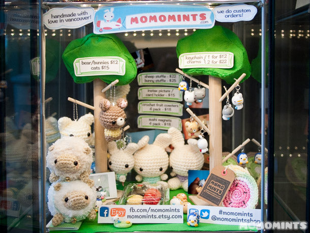momomints Cube Shop Display at Ninja Bubble Tea in Coquitlam