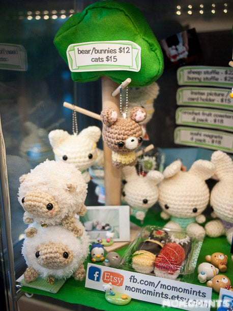 Close up of some of the exciting new Vancouver Handmade Products in our Cube Shop at Ninja Bubble Tea