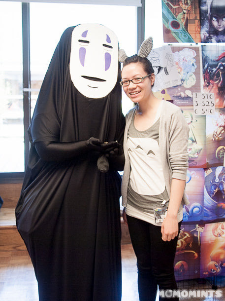 No-Face (Kaonashi) and Totoro Cosplay at the NorthWest Fan Fest Artist Alley