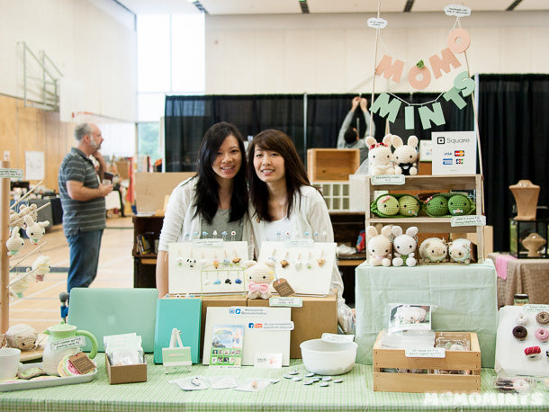Marissa and Sami of Momomints at our first Portobello West Craft Fair in Vancouver!