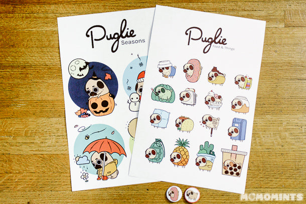 Cutest Puglie the Pug Prints from Euge!