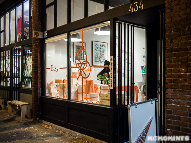 UnwrapEtsy Etsy Pop-up Shop Vancouver: ThisOpenSpace Exterior at Night