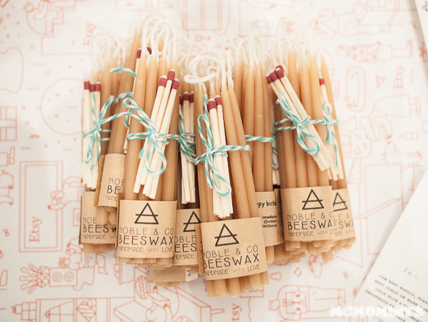 UnwrapEtsy Etsy Pop-up Shop Vancouver: Noble & Co Beeswax Birthday Candles