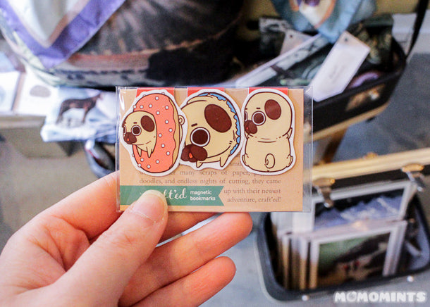 UnwrapEtsy Etsy Pop-up Shop Vancouver: Puglie and CraftedVan Magnetic Bookmarks