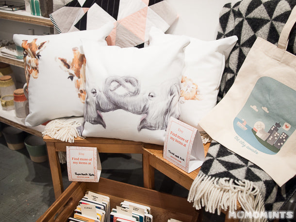 UnwrapEtsy Etsy Pop-up Shop Vancouver: Triple.Studio Pillows, Paperback Notes, Bambs Hemming and Momomints