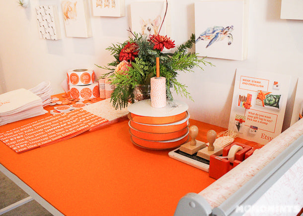 UnwrapEtsy Etsy Pop-up Shop Vancouver: Wrapping Station