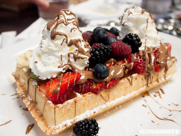 The Tropical Brussels Waffle at Le Petit Belge in Vancouver