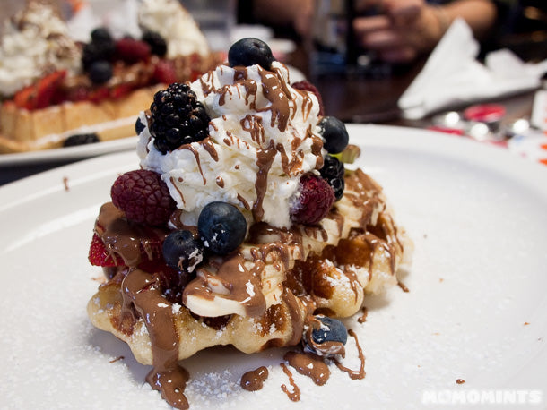 The Tropical Liege Waffle at Le Petit Belge in Vancouver