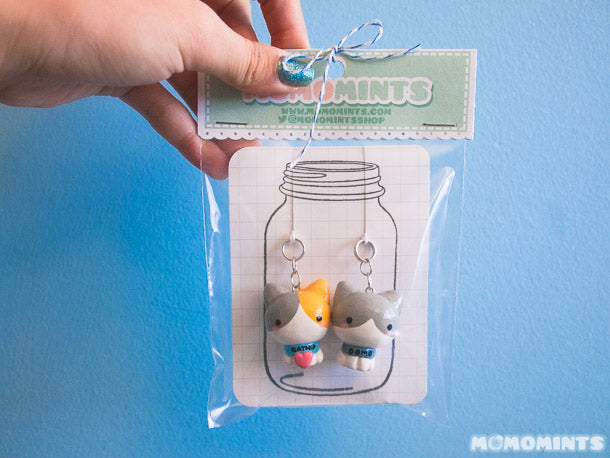 Cat Keychain Set Packaged for Delivery