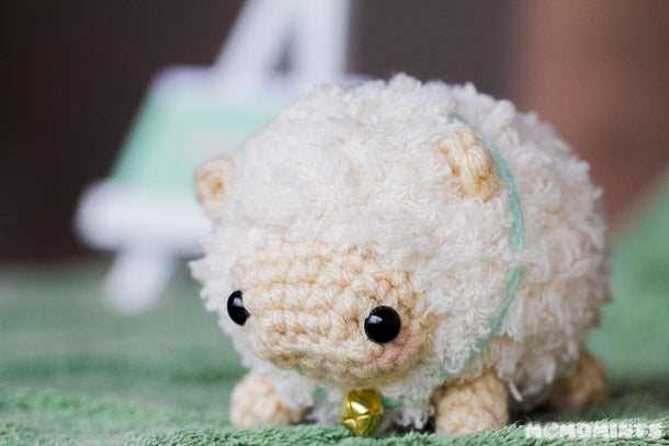 Meet Fluufie, momomints' fluffy amigurumi sheep stuffed toy!