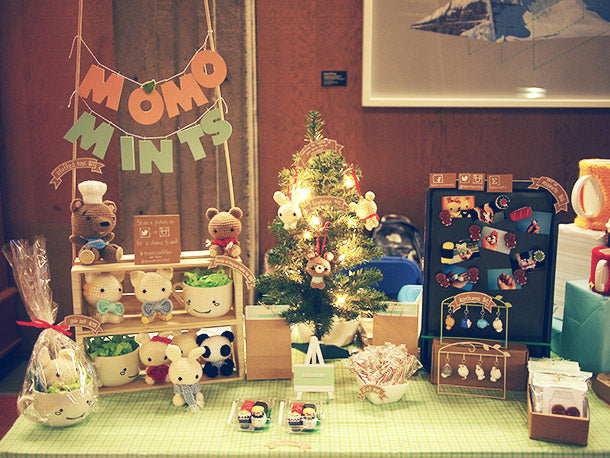 The momomints booth at the SFU SFSS Winter Craft Fair