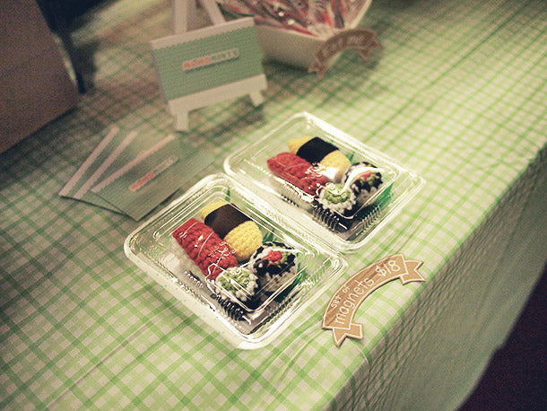 Our Most Coveted Product at the SFU SFSS Winter Craft Fair - Amigurumi Sushi Magnets