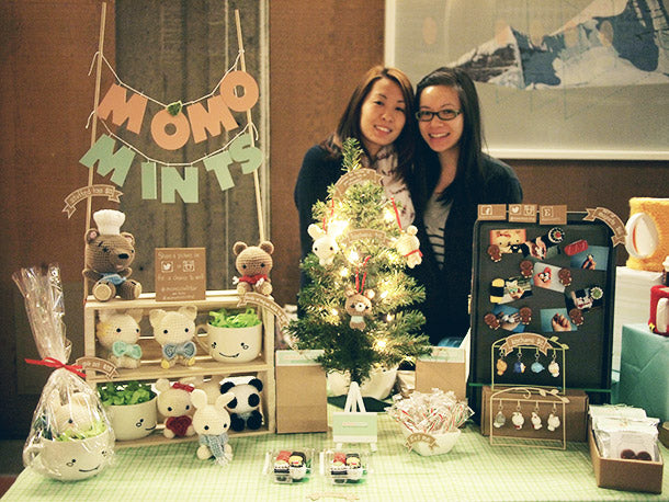 Sami and Marissa at the SFU SFSS Winter Craft Fair