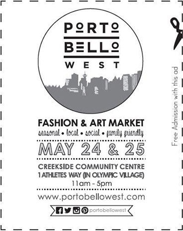 Portobello West Spring into Summer 2014 Free Admission Coupon