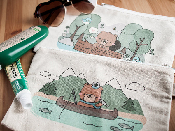 Cute and Functional Bear and Beaver Bags