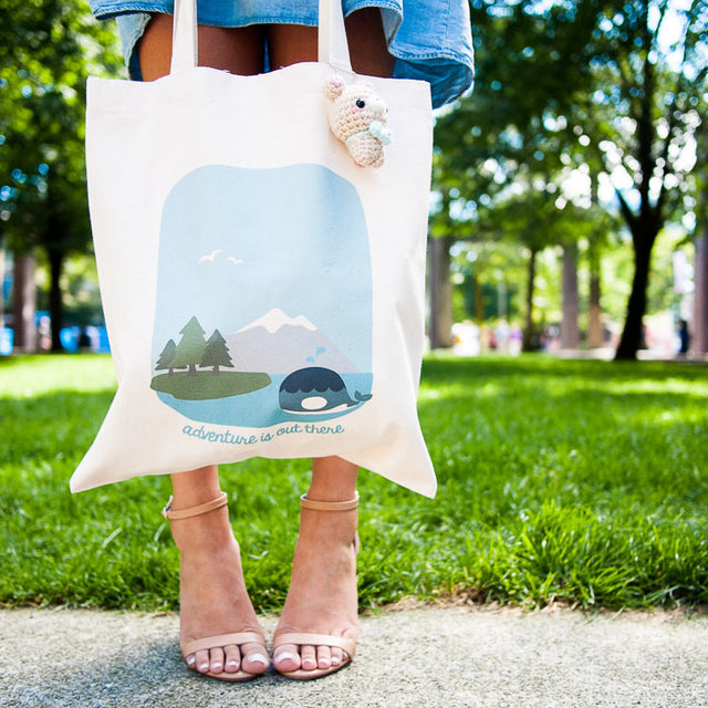 West Coast City and Nature Double-Sided Canvas Tote Bag