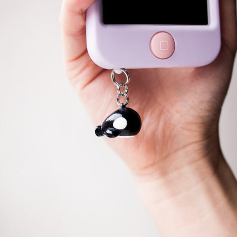 Cute Orca Killer Whale Charm Phone Plug Accessory