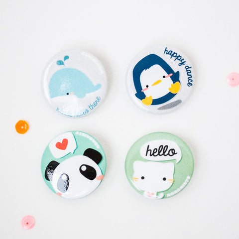Cute Animals Button Pins