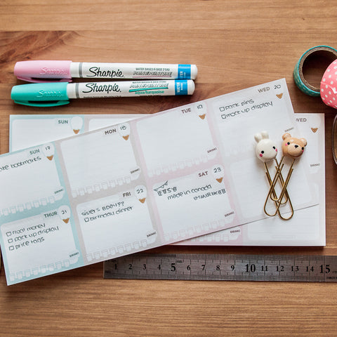 Icecream Weekly Notepad - Planner Sheets