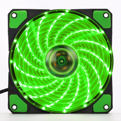 120mm LED ultra calm Computer Quiet Molex Connector Easy Installed Fan