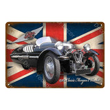 Classic Sports Racing Car/Bus/Truck Metal Tin Signs. Vintage Wall Plaque.