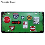 Retro Motor Oil Motorcycle Car License Plate
