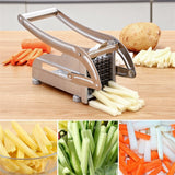 Stainless Steel Potato/Cucumber/Carrot Slicer with 2 Blades