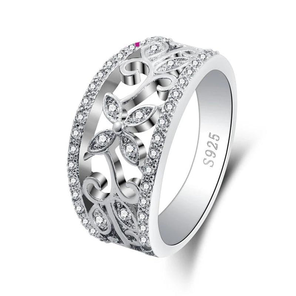Noble Women Flower Attractive Style Ring