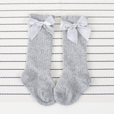 Toddlers Girls Big Bow Knee High Long Soft Cotton Lace baby Socks