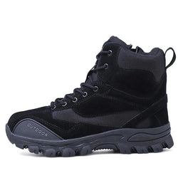 Men Boots Ankle Rubber Military Combat Boots