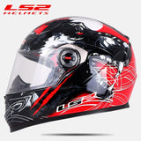 Full face motorcycle helmet with visor