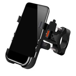Mobile Phone Holder For Motorcycle Universal USB Waterproof Cellphone Charger