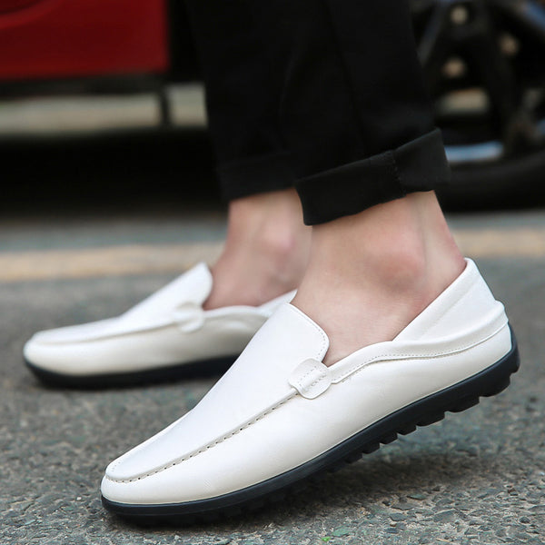 Man Leather Slip-On Casual Shoes