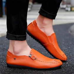 Men Shoes Breathable Leather Flats Loafers