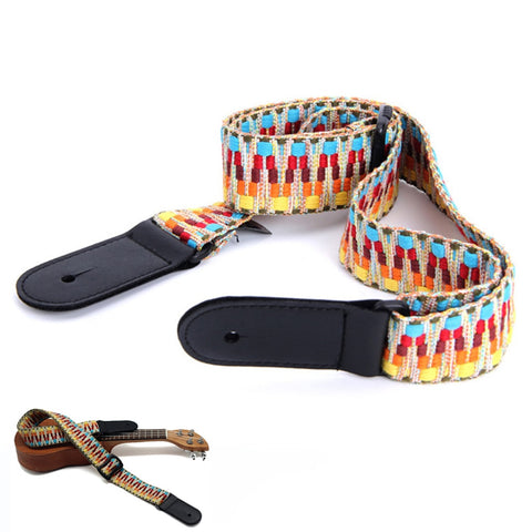 Guitar Strap Braided Cotton/Leather