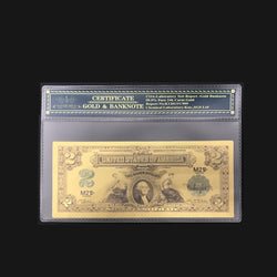 Nice 1899 Series $2 Two Dollar Silver Certificate US Gold Banknote