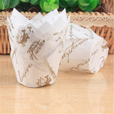 50Pcs Tulip Muffin/Cupcake Paper Cups. Oilproof Cupcake Liners.