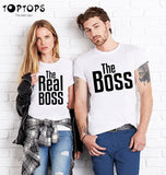 The Boss The Real Boss Couples T-shirt