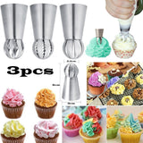 Spherical 3PCs/Set Cake Icing Piping Nozzles