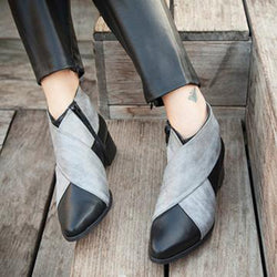 Women High Heel Wedges Ankle Boot