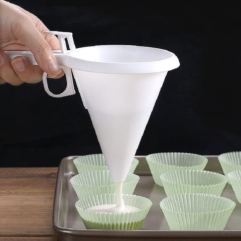 Funnel Batter Dispenser for Cookies, pancakes, cupcakes